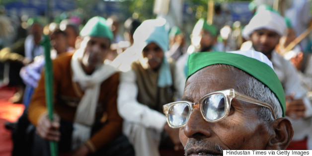 Farmers Protest Aganist Land Bill At Jantar Mantar